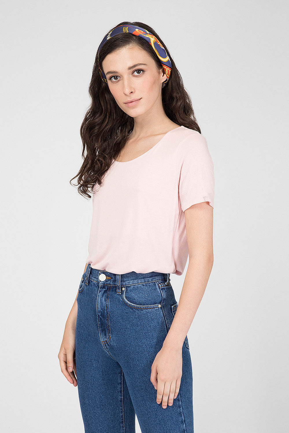 Pink top with short sleeves