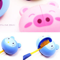 Toothbrush Cover and holder with suction