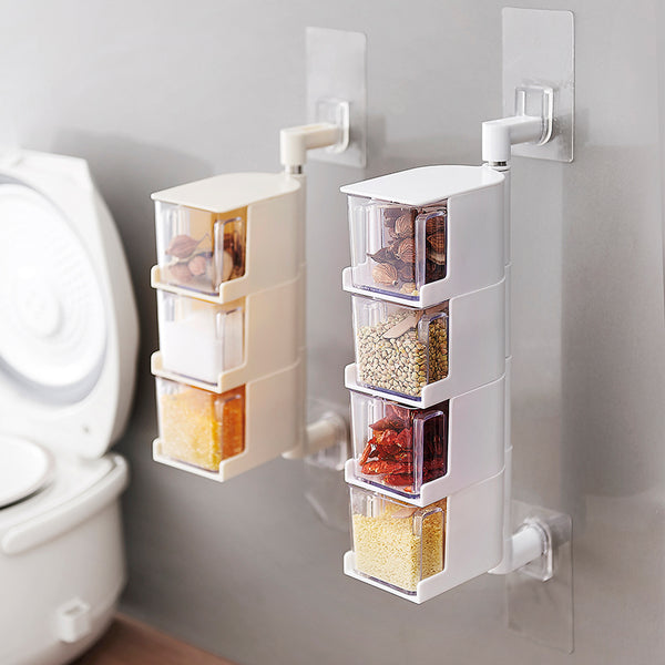 Easy Peel and stick Wall mounted Condiment Box