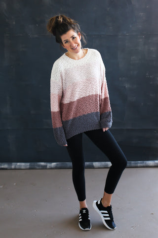 April Popcorn Sweater - boutique fashion - The Girls In Grey
