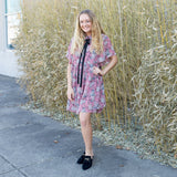 Natalie Floral Print Dress - boutique fashion - The Girls In Grey