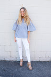 Aurora Distressed White Jeans - boutique fashion - The Girls In Grey