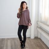 Mara Long Sleeve Blouse - boutique fashion - The Girls In Grey