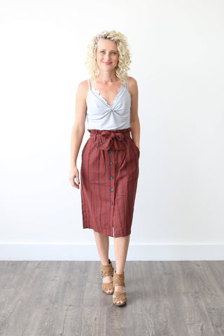 Lynn Paperbag Skirt - boutique fashion - The Girls In Grey