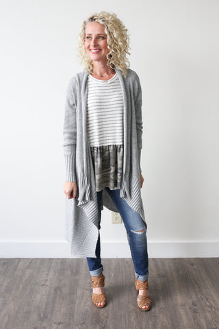 Carly Cardigan - boutique fashion - The Girls In Grey