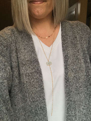 Double layer long necklace - boutique fashion - The Girls In Grey