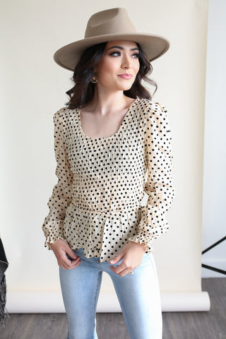 Fiona Polka Dot Top