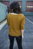 Chloe Knit Top Mustard
