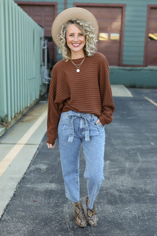 Crystal Ribbed Sweater