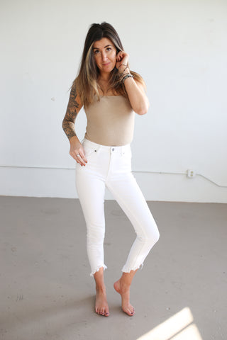Keely White Denim - boutique fashion - The Girls In Grey