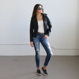 Landon Leather Jacket - boutique fashion - The Girls In Grey