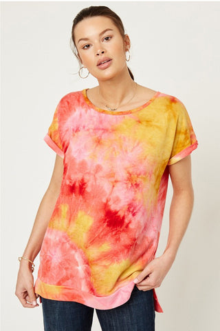 Lily Tie Dye Tee Pink