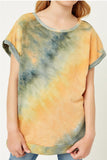 Girls Lily Tie Dye Tee Orange