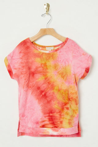 Girls Lily Tie Dye Tee Pink