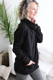 Kellan Criss Cross Pullover Black