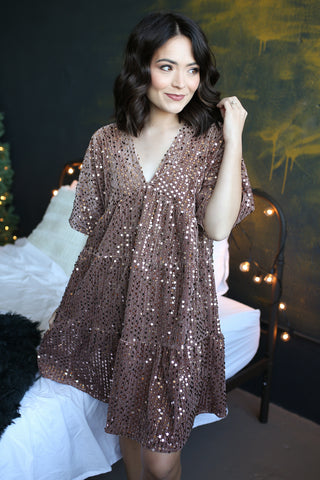 Aniston Sequin Dress