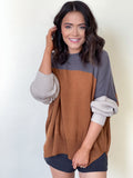 Riley Sweater Charcoal/Rust