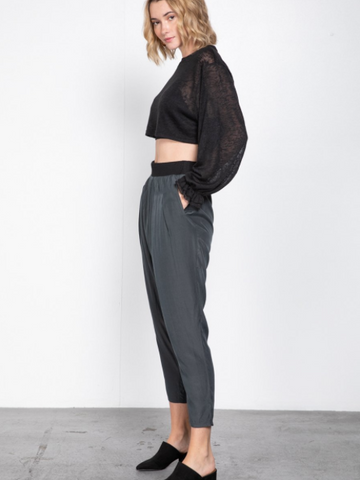 Inez Drape Pant - boutique fashion - The Girls In Grey