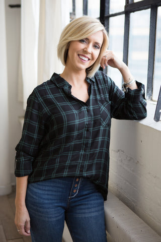 Cora Plaid Shirt - boutique fashion - The Girls In Grey
