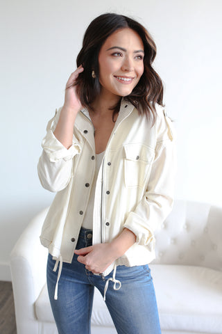 Chandler Pocket Jacket Ivory