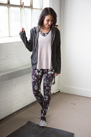 Elle Floral Print Leggings - boutique fashion - The Girls In Grey