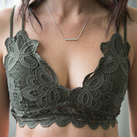 Jo Lace Bralette - boutique fashion - The Girls In Grey