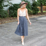 Shy Striped Skirt - boutique fashion - The Girls In Grey