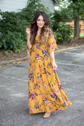 Victoria Floral Maxi Dress - boutique fashion - The Girls In Grey