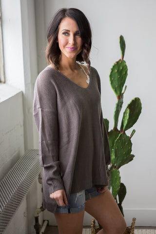Amelia Sweater - boutique fashion - The Girls In Grey