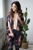 Cleo multi color floral kimono - boutique fashion - The Girls In Grey
