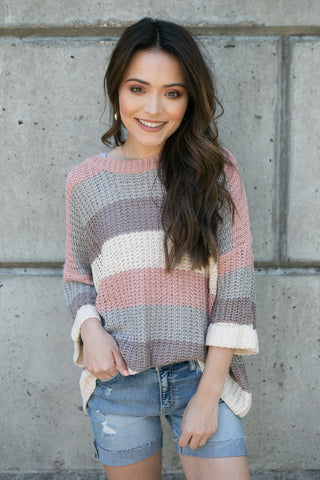 Lydia Sweater O/S - boutique fashion - The Girls In Grey