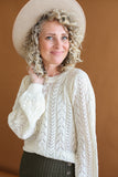 Audra Crochet Sweater Cream