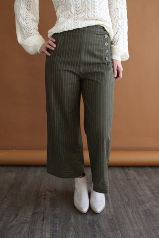 Sawyer Pinstriped Pants