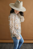 Maggie Woven Leopard Top