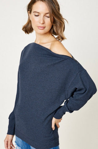 Alyssa Ribbed Knit Top - boutique fashion - The Girls In Grey