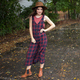 Agnes Plaid Jumpsuit - boutique fashion - The Girls In Grey