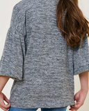 Parker Girls Puff Sleeve Sweater - boutique fashion - The Girls In Grey