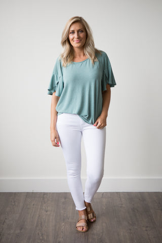 Sadie Top - boutique fashion - The Girls In Grey