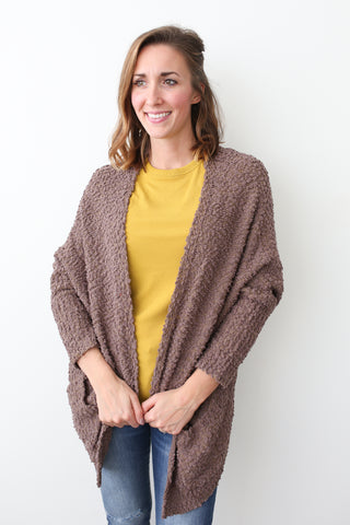 Libby Oversized Cardigan - boutique fashion - The Girls In Grey