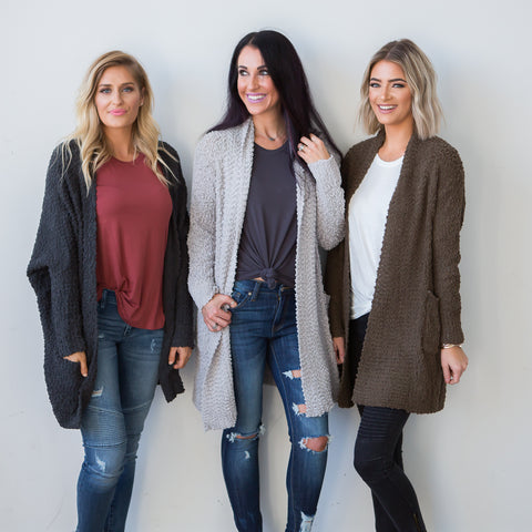 Belle Cardigan Sweater - boutique fashion - The Girls In Grey