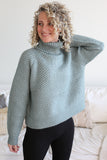 Mallory Turtleneck Sweater Seafoam
