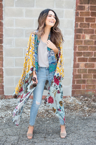 Bardot Kimono - boutique fashion - The Girls In Grey
