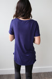 Bailey Scoop Neck Tee Navy