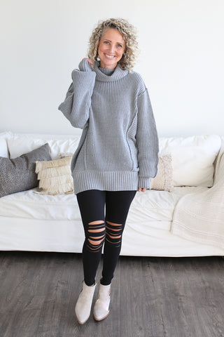 Natalie Oversized Turtleneck Sweater