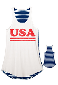 USA Striped Back Tank