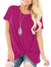 Short Sleeve Solid Hip Knot Top