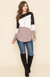 Three Color Block Top