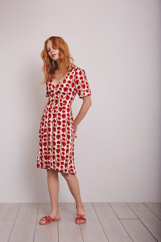 Red poppy print Ina dress, London Tea Dress Company
