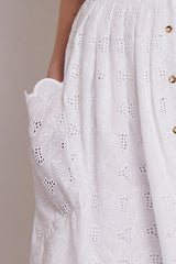 White broderie anglaise sundress