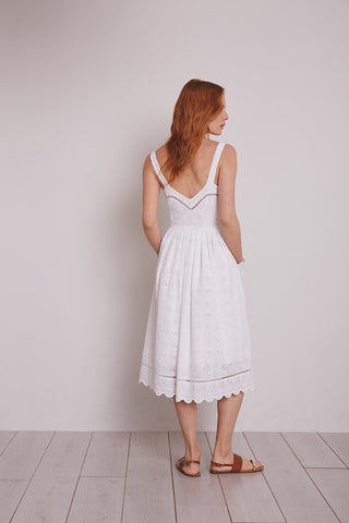 White broderie anglaise Alice sundress, London Tea Dress Company
